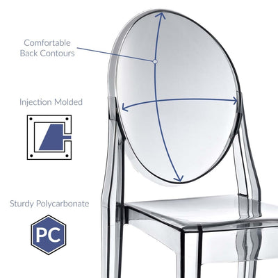 Smoked Clear Casper Dining Side Chair MDY-EEI-122-SMK