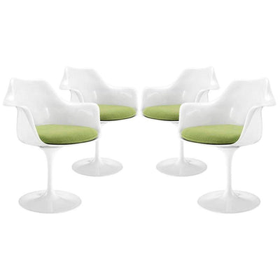 Lippa Dining Armchair Set of 4, Green