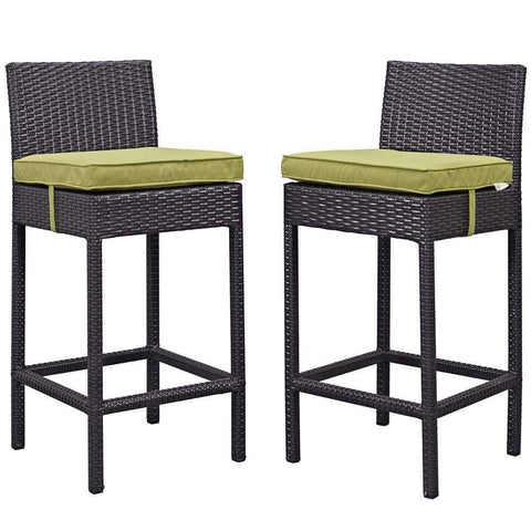Peridot Lift Bar Stool Outdoor Patio Set of 2
