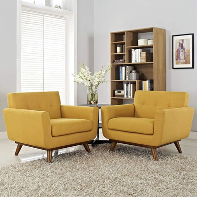 Citrus Engage Armchair Wood Set of 2 MDY-EEI-1284-CIT