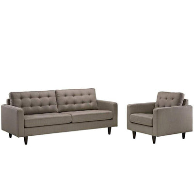 Empress Armchair and Sofa Set of 2, Granite