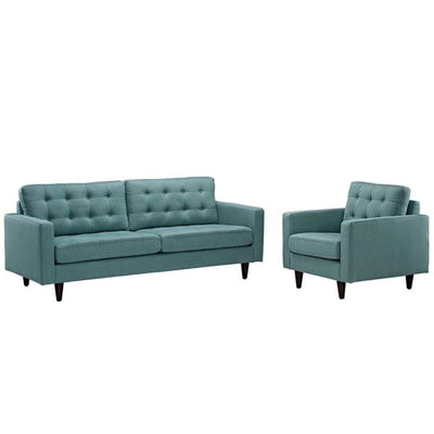 Empress Armchair and Sofa Set of 2, Laguna