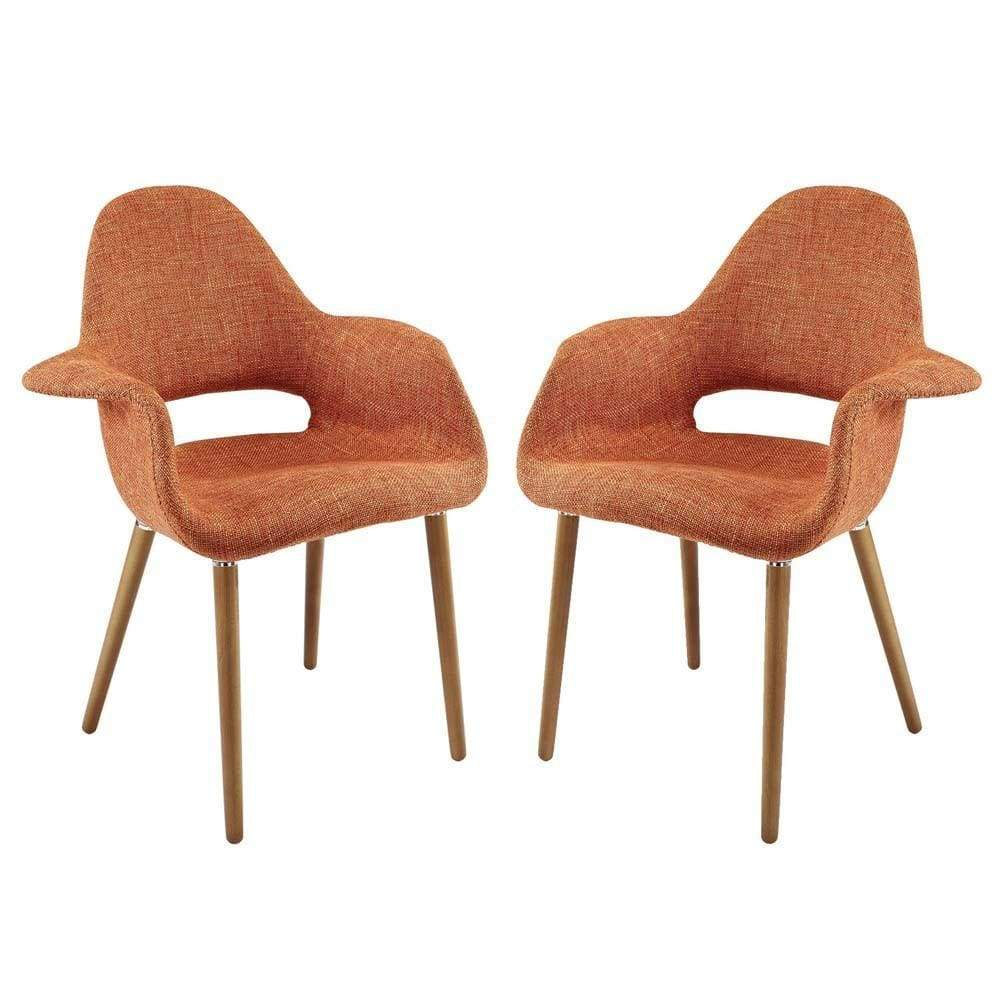 Orange Aegis Dining Armchair Set of 2
