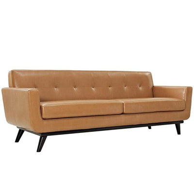 Engage Bonded Leather Sofa, Tan