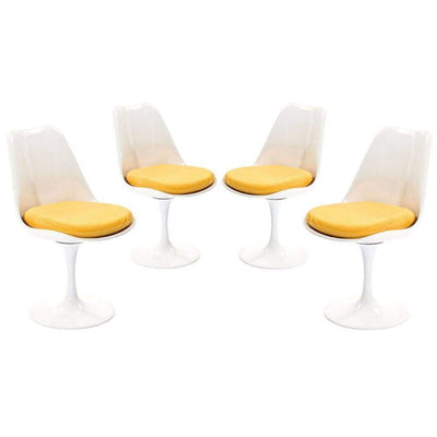 Lippa Dining Side Chair Fabric Set of 4, Yellow