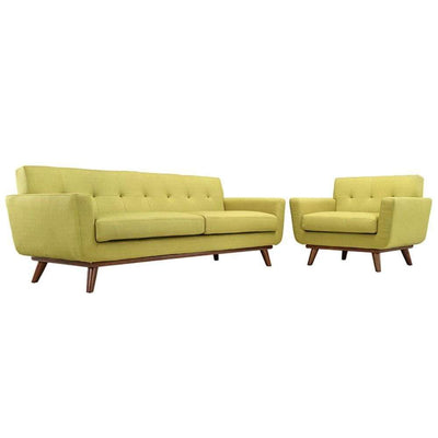 Engage Armchair and Sofa Set of 2, Wheatgrass
