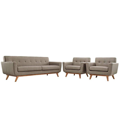 Engage Armchairs and Sofa Set of 3, Granite