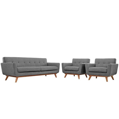 Engage Armchairs and Sofa Set of 3, Expectation Gray