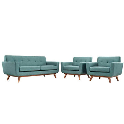 Engage Armchairs and Loveseat Set of 3, Laguna