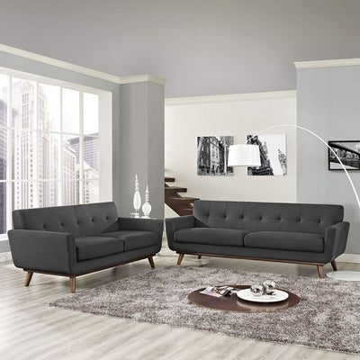 Engage Loveseat and Sofa Set of 2 By Modway