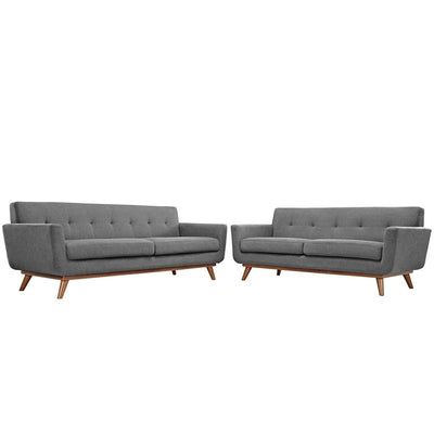 Engage Loveseat and Sofa Set of 2 By Modway MDY-EEI-1348-GRY