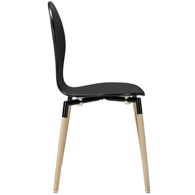 Path Dining Chair Set of 4 Black MDY-EEI-1369-BLK