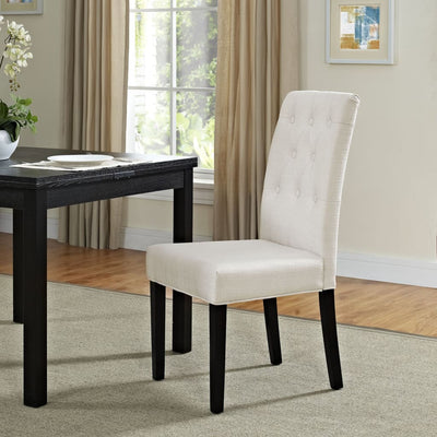 Beige Confer Dining Fabric Side Chair