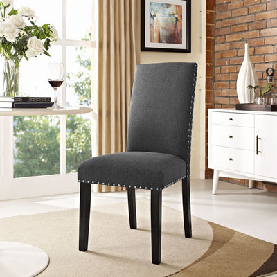 Parcel Dining Fabric Side Chair Gray MDY-EEI-1384-GRY