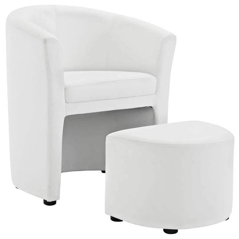 Flash Furniture White Contemporary Barstool White