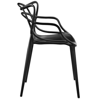 Black Entangled Dining Armchair MDY-EEI-1458-BLK