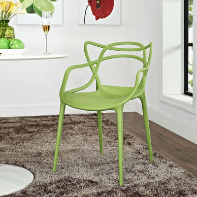 Green Entangled Dining Armchair