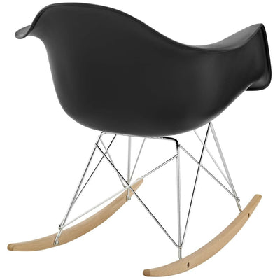 Rocker Lounge Chair Black MDY-EEI-147-BLK