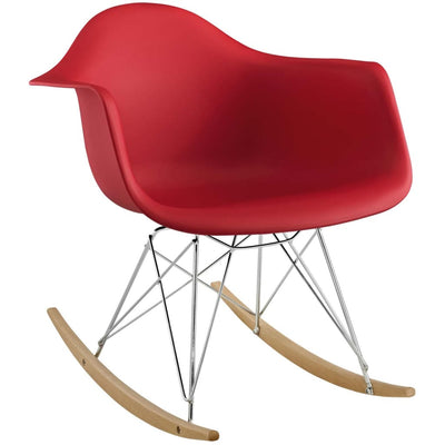 Rocker Lounge Chair Red MDY-EEI-147-RED