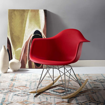 Rocker Lounge Chair Red