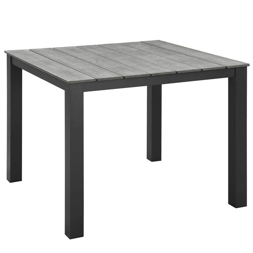 "Brown Gray Maine 40"" Outdoor Patio Dining Table"