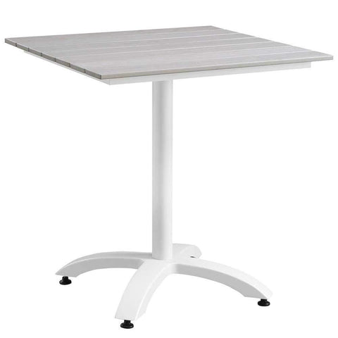 "White Light Gray Maine 28"" Outdoor Patio Dining Table"
