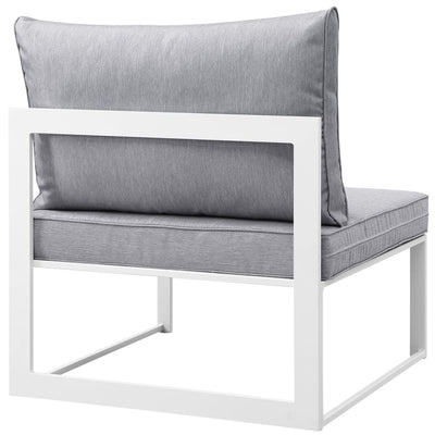 Fortuna Armless Outdoor Patio Sofa White Gray MDY-EEI-1520-WHI-GRY