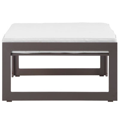 Fortuna Outdoor Patio Ottoman Brown White MDY-EEI-1521-BRN-WHI