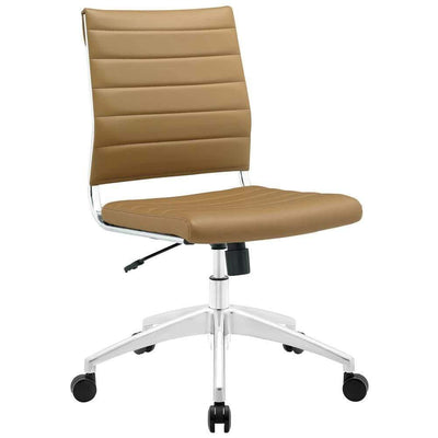 Tan Jive Armless Mid Back Office Chair