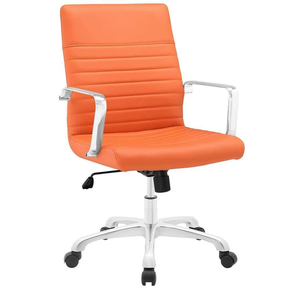 Orange Finesse Mid Back Office Chair