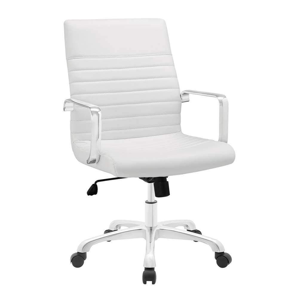 White Finesse Mid Back Office Chair