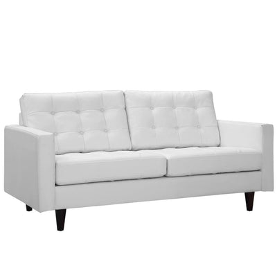 Empress Bonded Leather Loveseat White MDY-EEI-1546-WHI