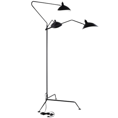 Black View Stainless Steel Floor Lamp MDY-EEI-1593