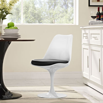 Lippa Dining Vinyl Side Chair Black
