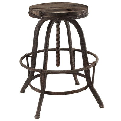 Collect Bar Stool Set of 2 Brown MDY-EEI-1603-BRN-SET