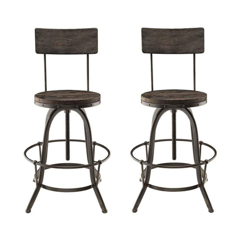 Black Procure Bar Stool Set of 2