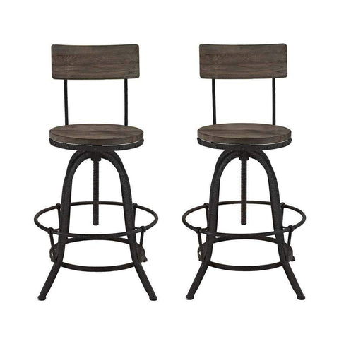 Brown Procure Bar Stool Set of 2