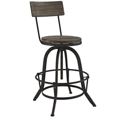 Procure Bar Stool Set of 4 Brown MDY-EEI-1609-BRN-SET