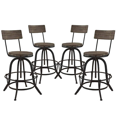 Procure Bar Stool Set of 4, Brown