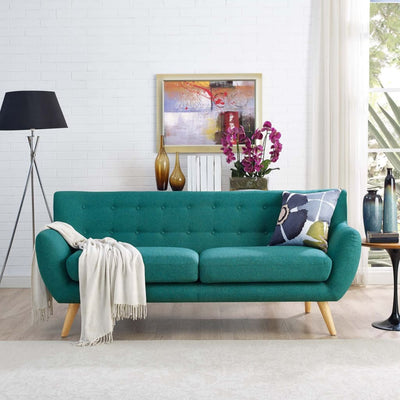 Remark Upholstered Sofa, Teal -Modway