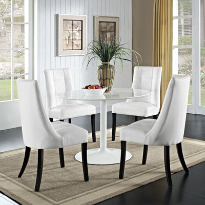 Noblesse Vinyl Dining Chair Set of 4 White MDY-EEI-1678-WHI