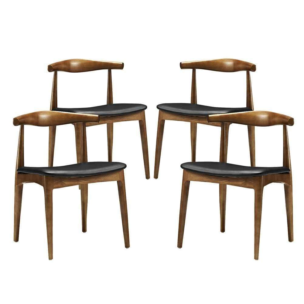 Black Tracy Dining Chairs Set of 4