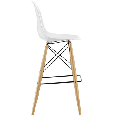 White Pyramid Bar Stool MDY-EEI-1701-WHI
