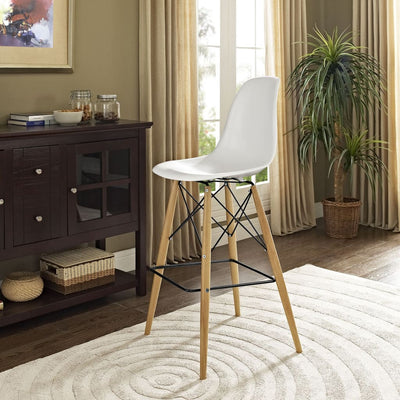 White Pyramid Bar Stool