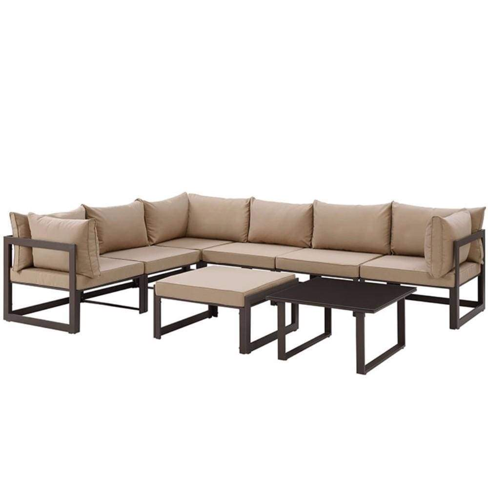 Decor Patio Sectional Sofaset Moc Set Photo