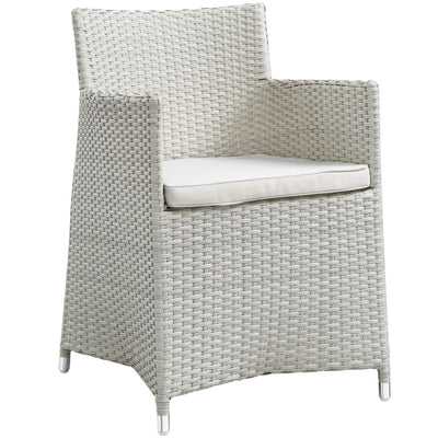 Gray White Junction Armchair Outdoor Patio Wicker Set of 2 MDY-EEI-1738-GRY-WHI-SET
