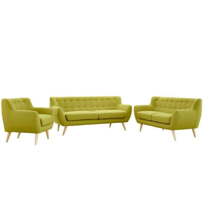 Remark 3 Piece Living Room Set, Wheat