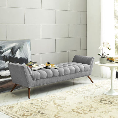 Expectation Gray Response Fabric Bench
