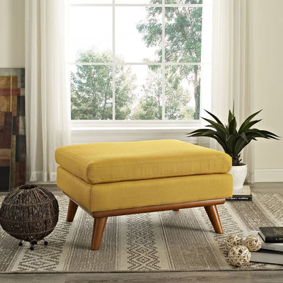 Citrus Engage Fabric Ottoman