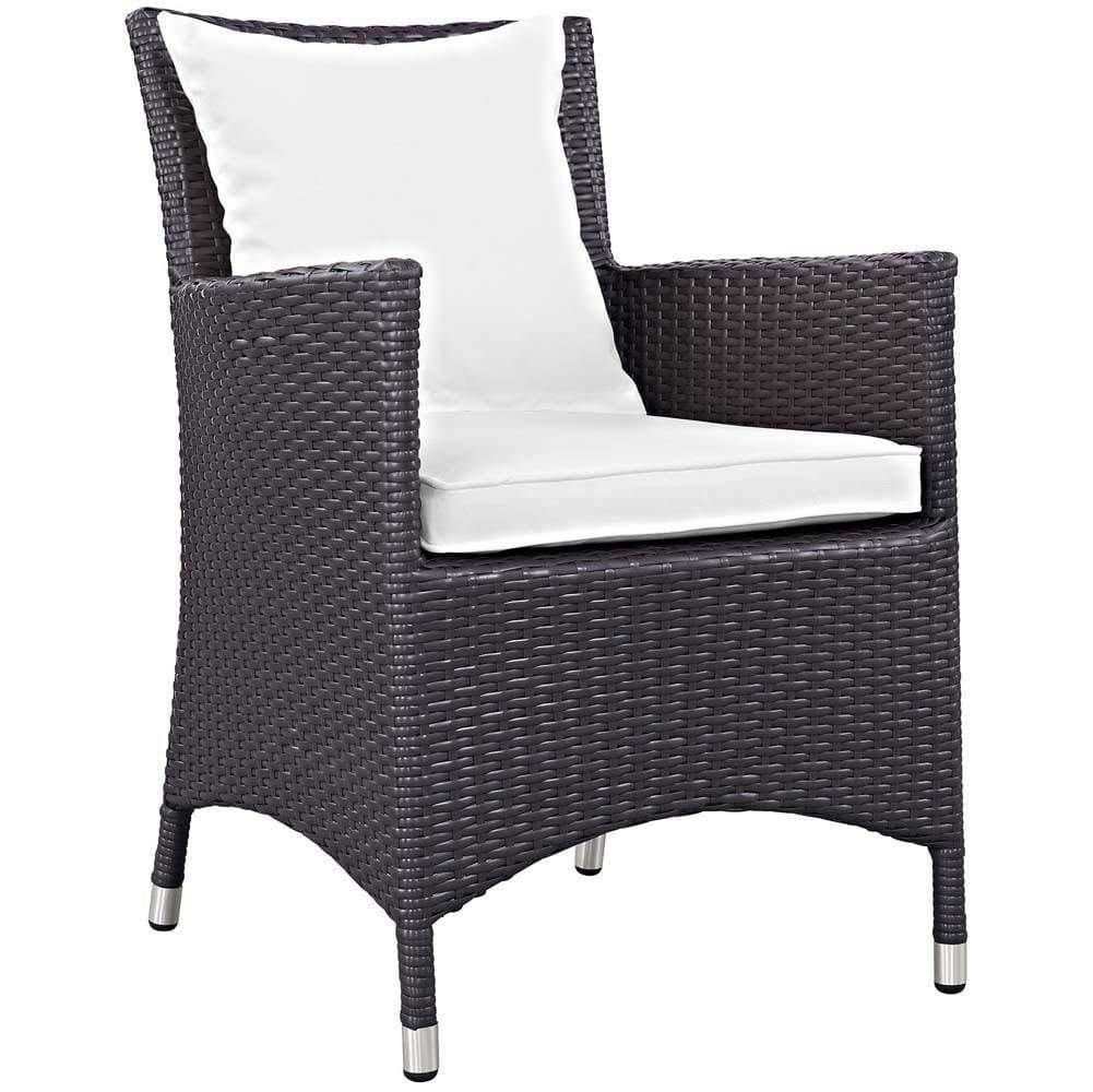 White Convene Dining Outdoor Patio Armchair